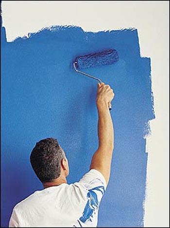 покраска стен в новостройке