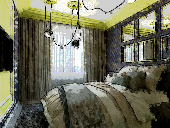 проект спальни квартиры