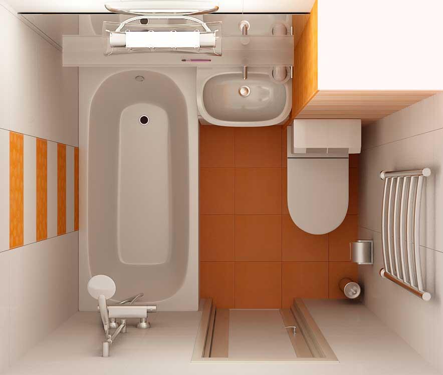 схема санузла в маленькой квартире