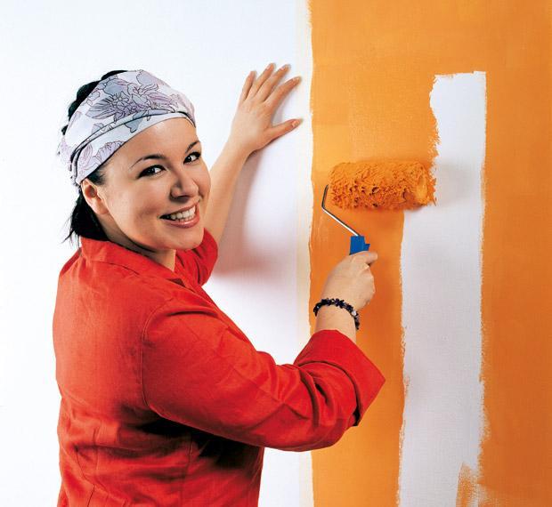 как самому покрасить стены
