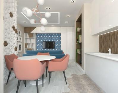 дизайн проект квартиры в 3d