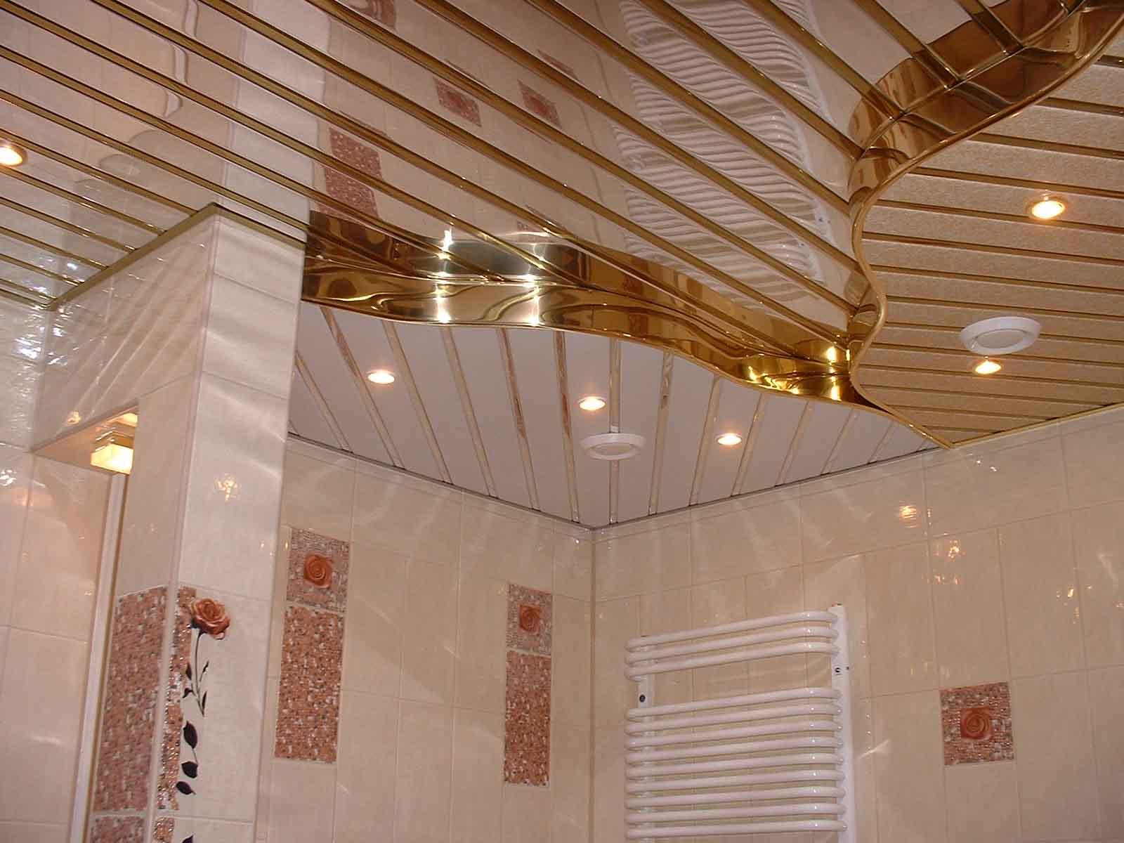 дизайн потолка ванной комнаты
