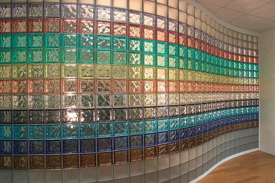 стены из стеклоблоков